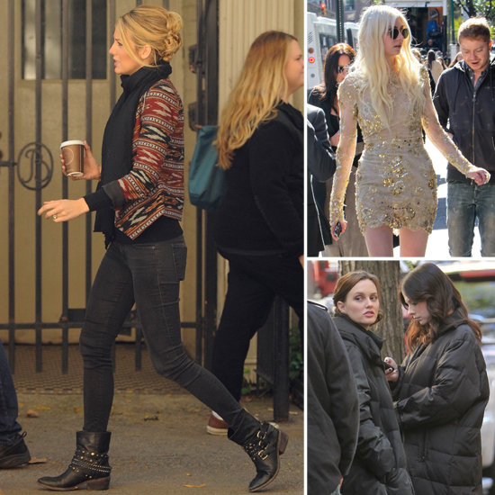 Blake Lively Flashes Her Diamond and Welcomes Taylor Momsen Back to Set