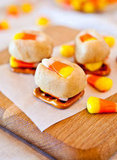 Candy Corn Cookie Dough Pretzel Bites