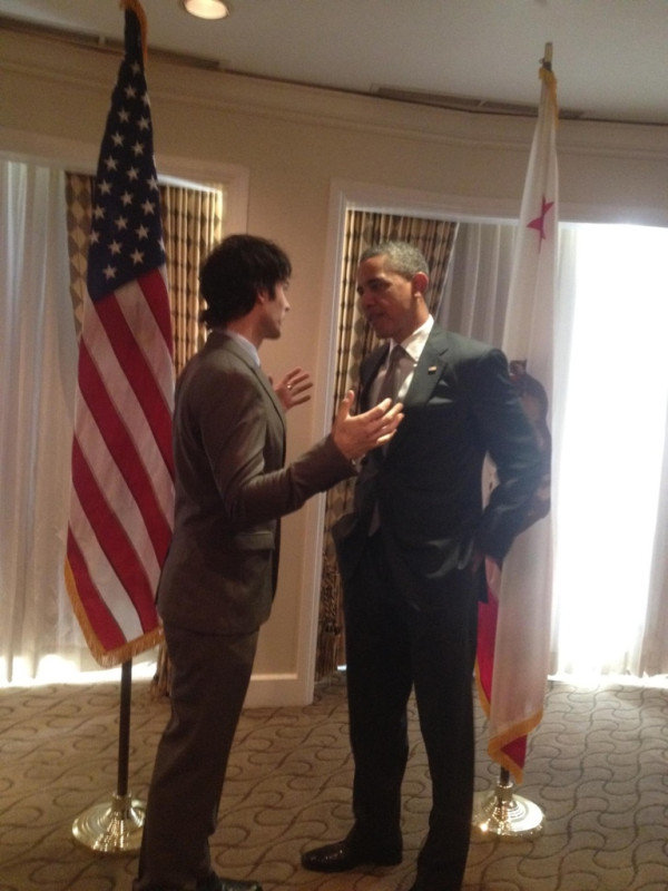 Ian Somerhalder captured a proud moment. Source: Twitter user iansomerhalder