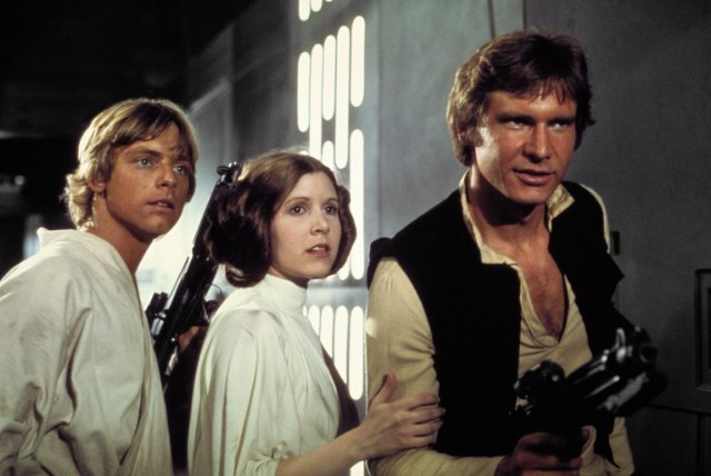 Luke, Leia, and Han Solo From Star Wars