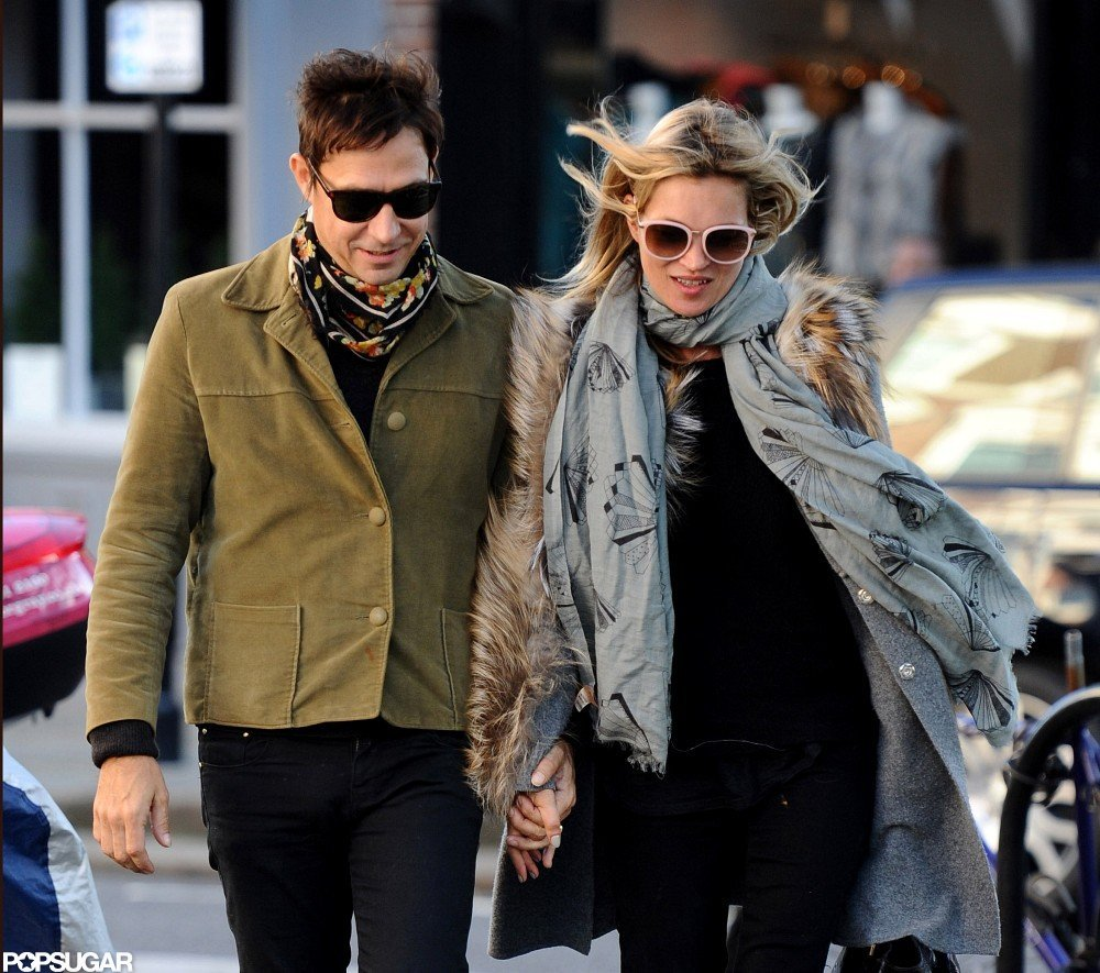 Kate Moss and Jamie Hince held hands in London.