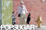 Cate Blanchett crossed the street with Ignatius.