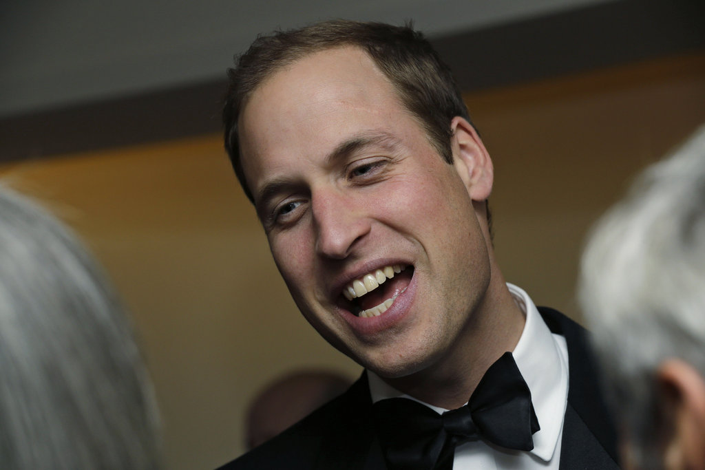 Prince William had a laugh at The October Club dinner in London.