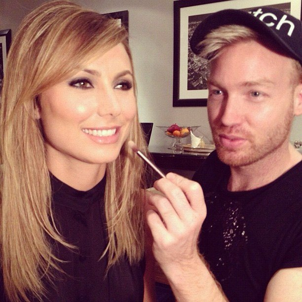 Stacy Keibler got her makeup done. Source: Instagram user dominiquesamuel