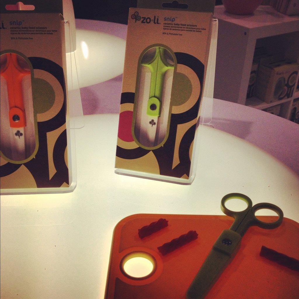 Zo-li will also introduce Snip, ceramic scissors made for cutting food.