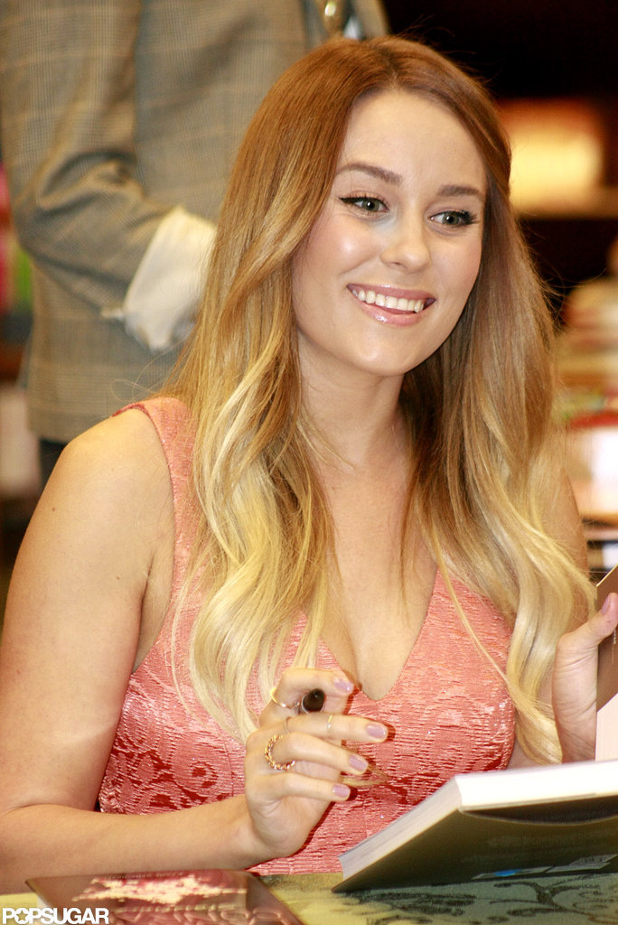 Lauren Conrad wore her blond locks down.