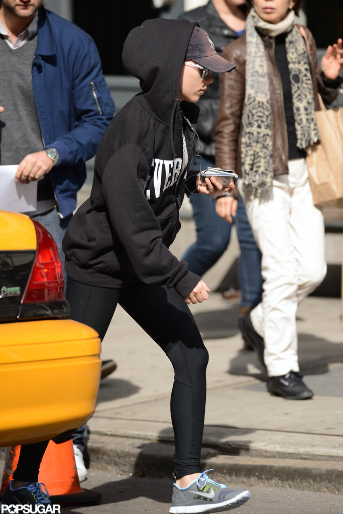 Scarlett Johansson wore workout gear in NYC.