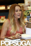 Lauren Conrad signed books for fans.