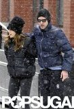 Justin Timberlake and Jessica Biel braved the NYC snow in February 2010.
