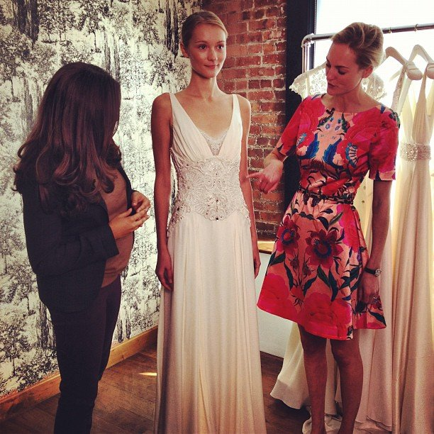 Style Director Noria Morales led us through a sneak peek of the Temperley bridal collection.