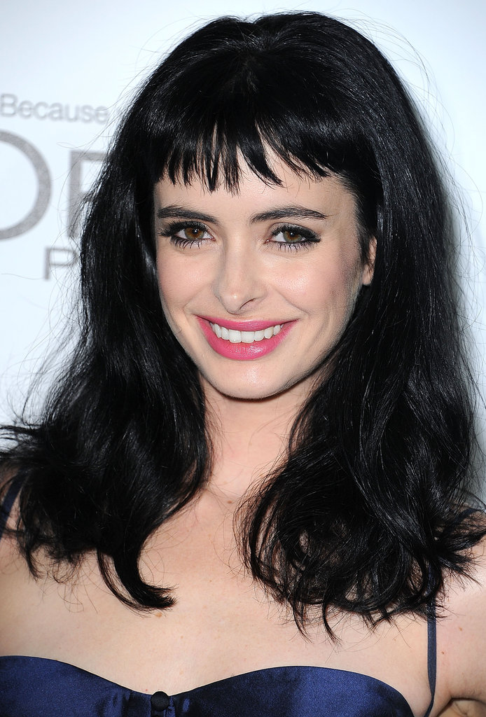 """He was so angsty and bad. . . . His name was Damian, but my parents called him 'Demon.' Our first time was in his parents' van before basketball practice. I don't remember it being very pleasant."" Krysten Ritter first boyfriend was not her favorite."