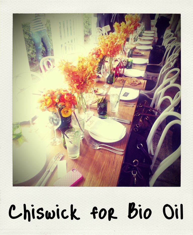 Dinner at Chiswick for Bio Oil? Sure, why not.