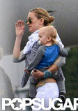 Kate Hudson and son Bingham Bellamy were in LA.