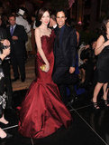Coco Rocha and Zac Posen posed for photos at the Bergdorf Goodman 111th Anniversary Celebration in NYC.