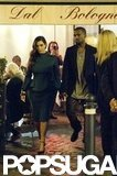 Kim Kardashian and Kanye West made their way through a crowd in Rome.