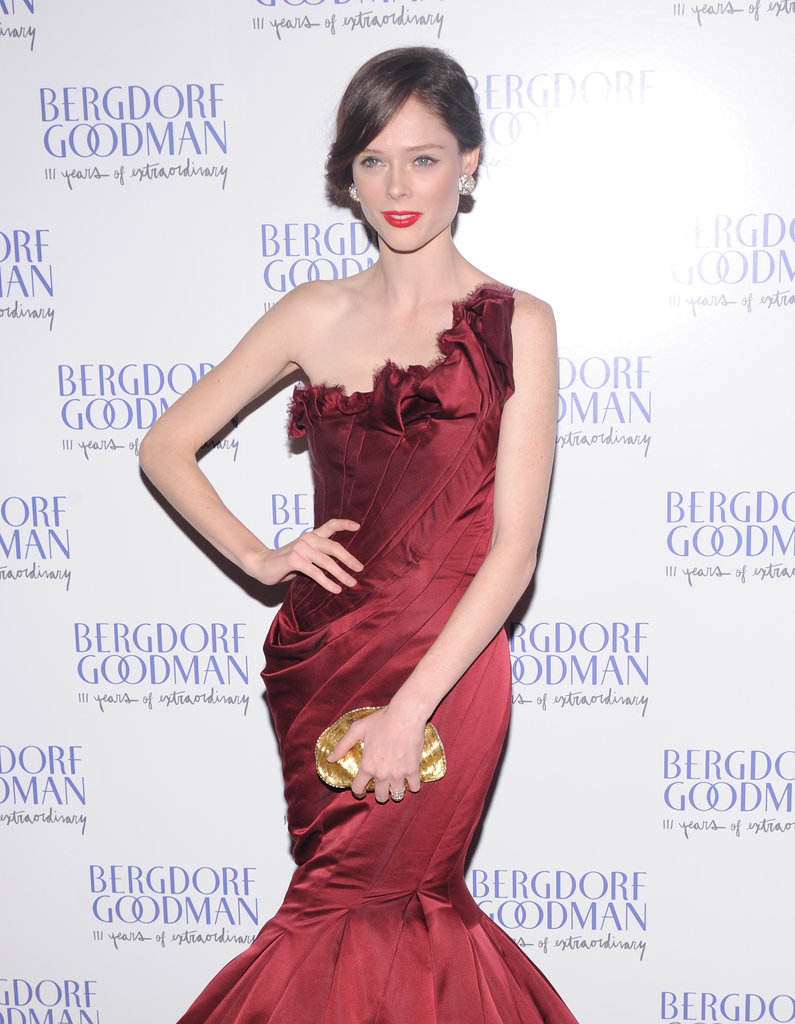 Coco Rocha stepped out in Resort 2013 Zac Posen to attend the celebration in NYC.