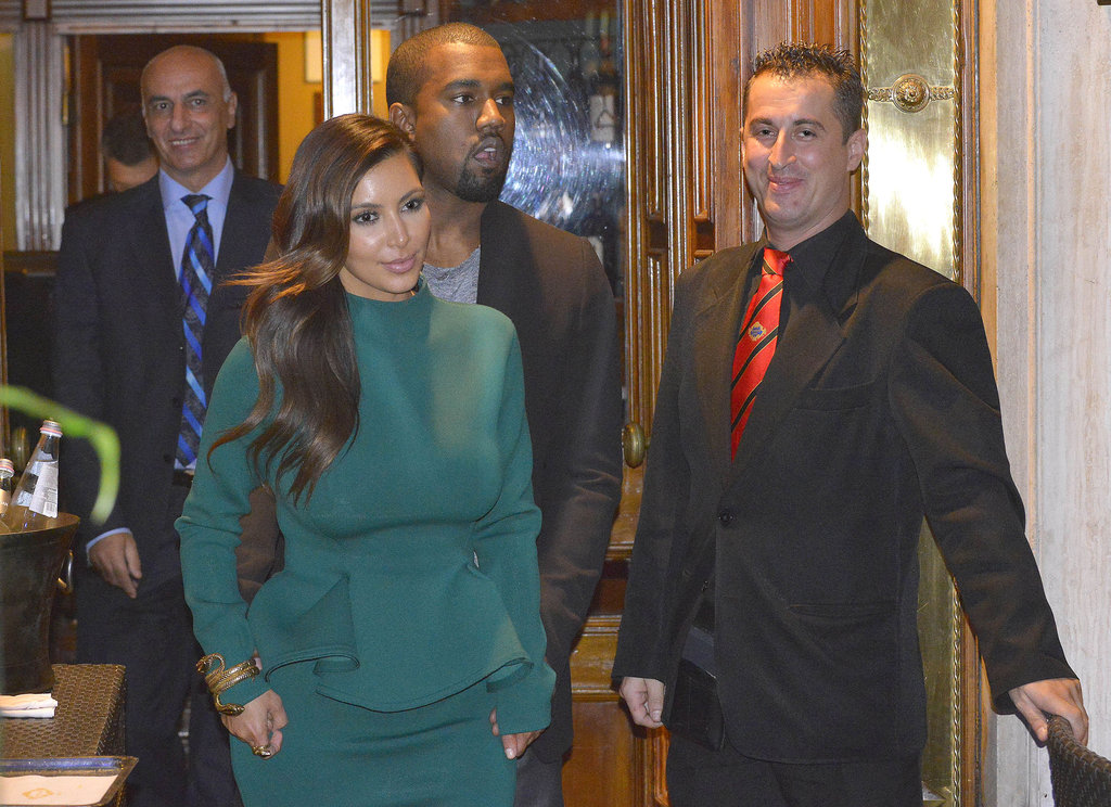 Kim Kardashian and Kanye West enjoyed an evening out together.