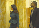 Kim Kardashian and Kanye West were spotted in Rome.