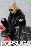 Mary-Kate Olsen walked through NYC as she shopped with her sister.