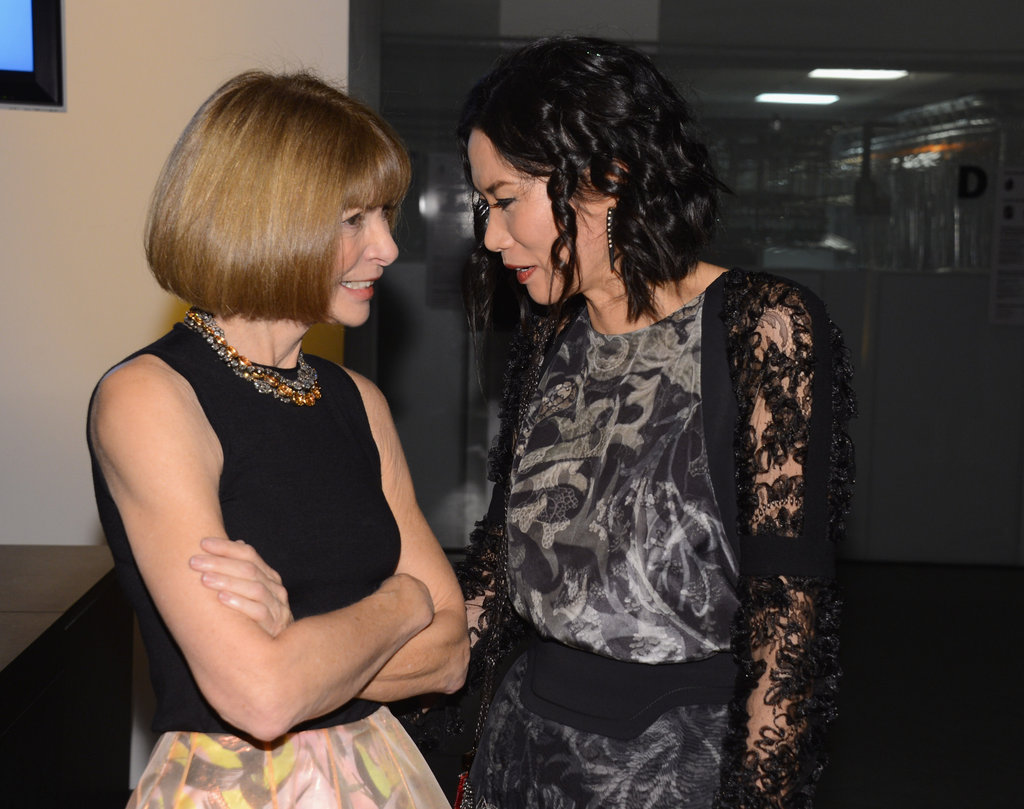 Anna Wintour and Wendi Murdoch chatted at the awards held in NYC.