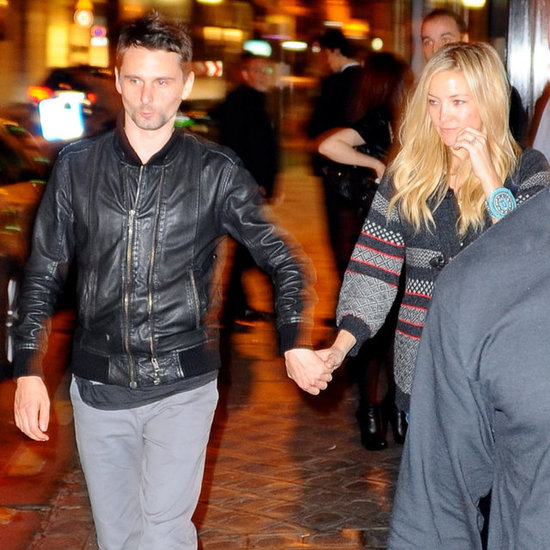 Kate Hudson and Matt Bellamy held hands.