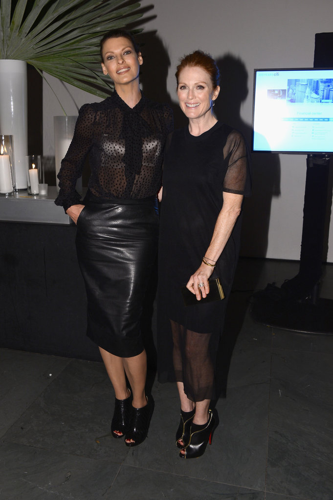 Julianne Moore and Linda Evangelista posed for photos at MoMA for WSJ Magazine's Innovator of the Year Awards in NYC.