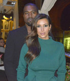 Kim Kardashian and Kanye West stepped out in Rome.