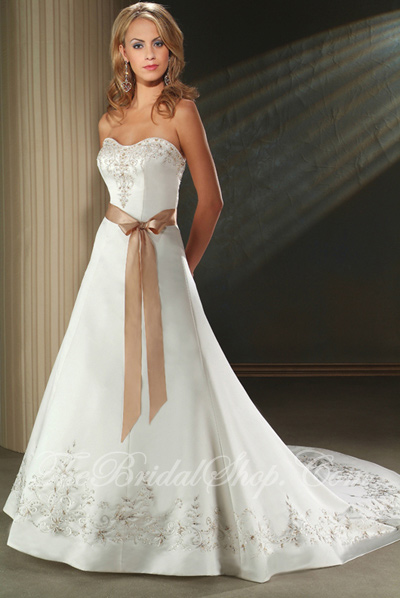 white copper wedding dresses
