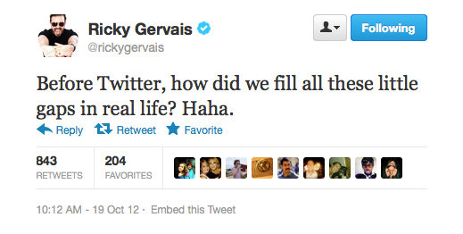And how did we make these galleries, Ricky Gervais?!