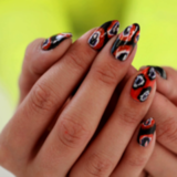 DIY Ikat Nail Art for Halloween