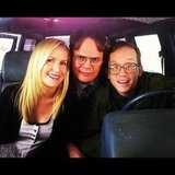 Rainn Wilson shared a picture with Angela Kinsey, his costar from The Office, and actor Chris Gethard. Source: Instagram user rainnwilson