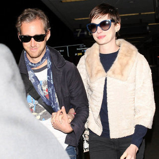 Anne Hathaway and Adam Shulman Return From Their Honeymoon