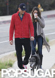 Ashton Kutcher and Mila Kunis Start Their Day Side by Side