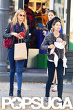 Lily Aldridge and Erin Heatherton took a shopping trip with baby Dixie Followill in NYC.