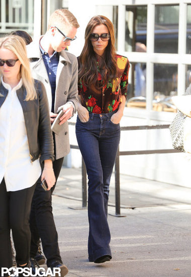 Victoria Beckham walked around NYC in jeans.