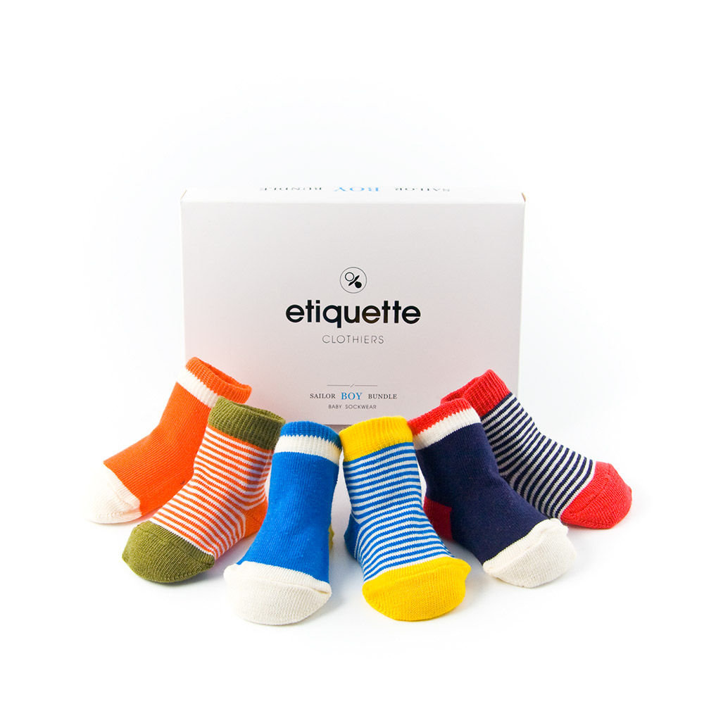 Etiquette Baby Sailor Sock Set