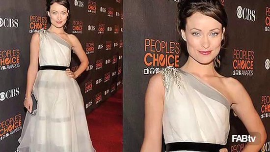 Olivia Wilde: A Grecian Goddess in Monique Lhuillier at the People's Choice Awards