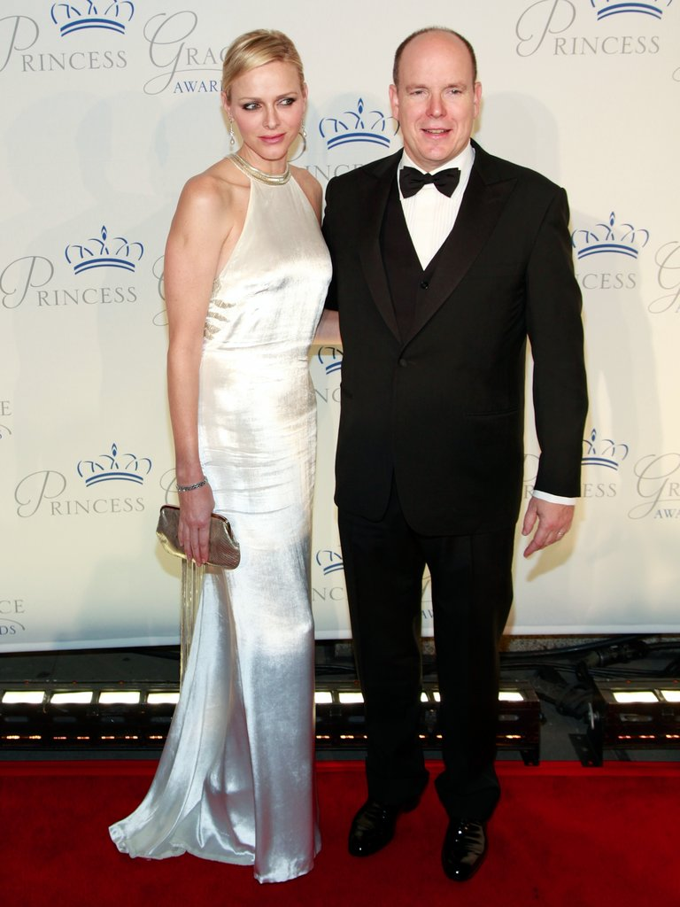 Princess Charlene and Prince Albert II of Monaco posed at the Princess Grace Awards gala in New York City.