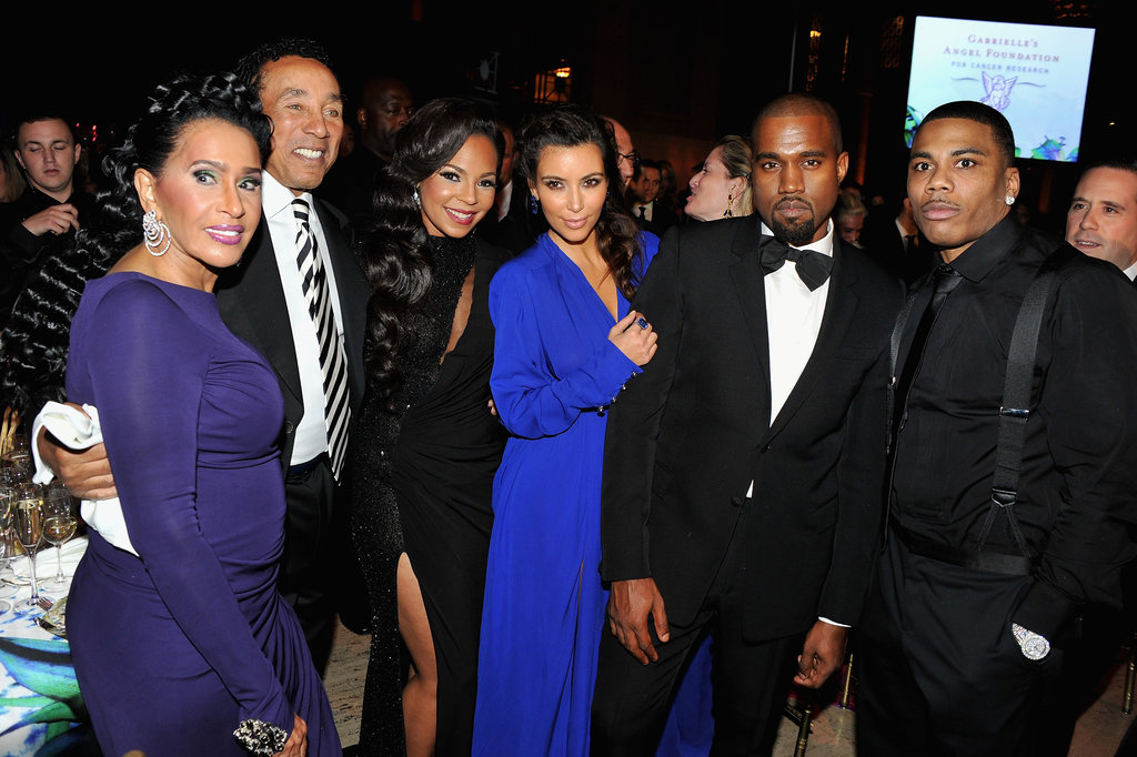 Ashanti, Kim Kardashian, Kanye West, and Nelly stepped out in New York City for the Angel Ball.