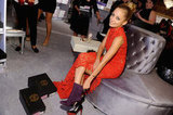 Nicole Richie was all smiles as she tried on shoes.