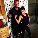 Christina Milian worked out with her trainer. Source: Instagram user christinamilian