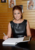 Lauren Conrad signed copies of her books at a Barnes & Noble in LA.