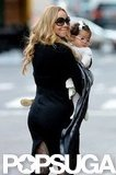 Mariah Carey cozied up to Monroe Cannon.