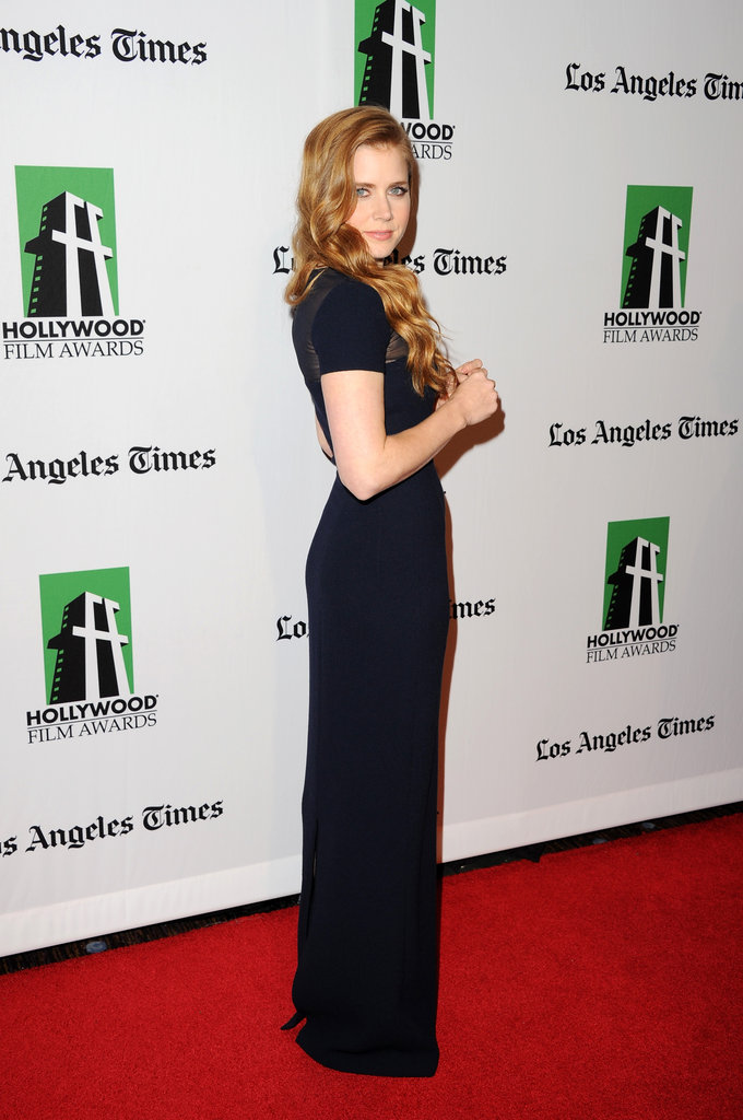 Amy Adams posed on the red carpet in Los Angeles.
