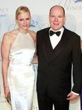 Princess Charlene posed for photos on the red carpet with her husband, Prince Albert II of Monaco.