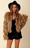 This BB Dakota Pele Coyote Faux Fur Jacket ($132) looks cool and '70s-inspired when styled with a wide-brimmed hat.