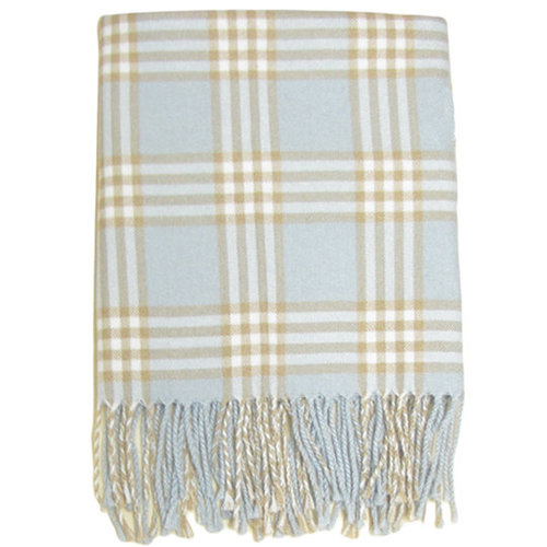 A Soft Idea Plaid Receiving Blanket