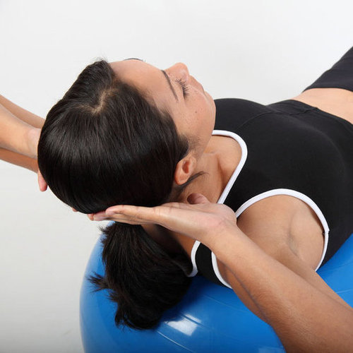 Variations of Crunches on an Exercise Ball