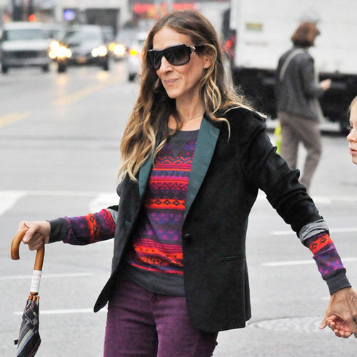 Sarah Jessica Parker Wearing Purple Jeans | Pictures