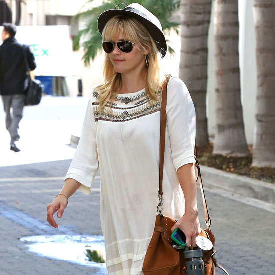 Reese Witherspoon Wearing White Dress